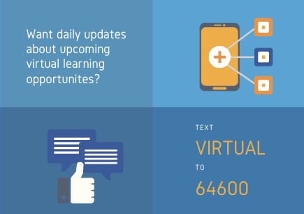 Daily updates about upcoming virtual learning opportunites